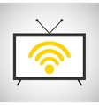 screen tv movie online internet vector image