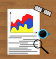 business report marketing result vector image