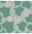 Abstract leaves on seamless pattern vector image