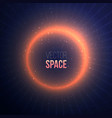 explosion with a space flare on dark background vector image vector image