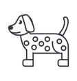 Dog dalmatian line icon sign vector image