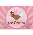 Ice Cream vintage style poster vector image vector image