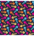 Bright fish bones pattern vector image