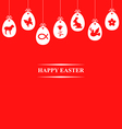 egg symbol hang red vector image vector image