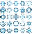 abstract snowflakes background vector image vector image
