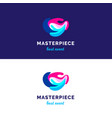 abstract waves logo bridght splashes logo vector image