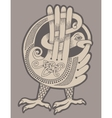authentic decorative celtic bird vector image
