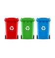 Buckets for trash vector image