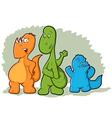 Cartoon Dinosaur Monsters vector image
