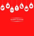 egg symbol hang red vector image
