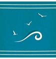 gull marine old background vector image