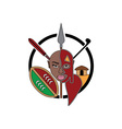 Maasai-Tribe-Sign-380x400 vector image