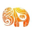 Ornamental elephant shape vector image