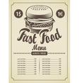 Retro hamburger vector image