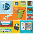 Travel And Journey Flat Icon Set vector image