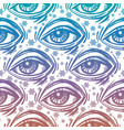 trendy fashion all seeing eye seamless pattern vector image