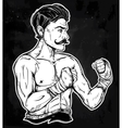 Vintage retro boxer fighter player vector image