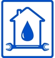 water in home - plumber symbol vector image