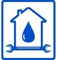 water in home - plumber symbol vector image