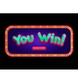 You Win banner for online casino poker roulette vector image