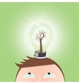 Think green  human mind vector image