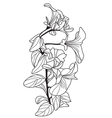 decorative viola flowers vector image vector image