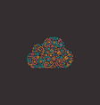 abstract business logo icon with cloud vector image