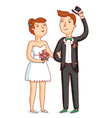 Newlyweds vector image