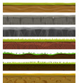 seamless grounds soil and grass for ui game vector image vector image