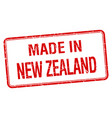 made in new zealand red square isolated stamp vector image