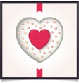 Abstract heart in picture frame vector image