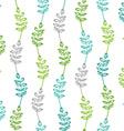 Seamless pattern of vintage leaves vector image