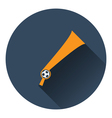 Football fans wind horn toy icon vector image