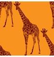 a giraffe seamless animal pattern vector image