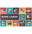 bank cards - set of flat design infographics vector image