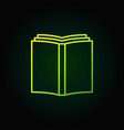 book simple green icon vector image