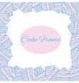 cake frame vector image