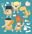 Cartoon Caveman set vector image