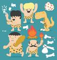 Cartoon Caveman set vector image