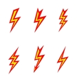 lightning colored silhouettes on white background vector image