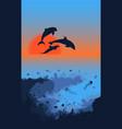 marine life landscape template vector image