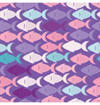 seamless background with fish vector image
