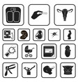 woman and pregnancy black icons in set collection vector image
