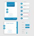 User Login Form UI - User Interface vector image