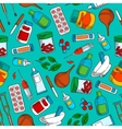 Medications seamless background wallpaper vector image