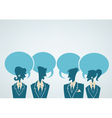 office crowd chatting people vector image