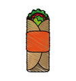 tacos food doodle vector image