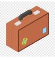 Tourist bag isometric 3d icon vector image