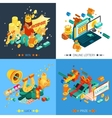 Lottery And Jackpot Concept Icons Set vector image