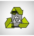 concept recycle icon design vector image